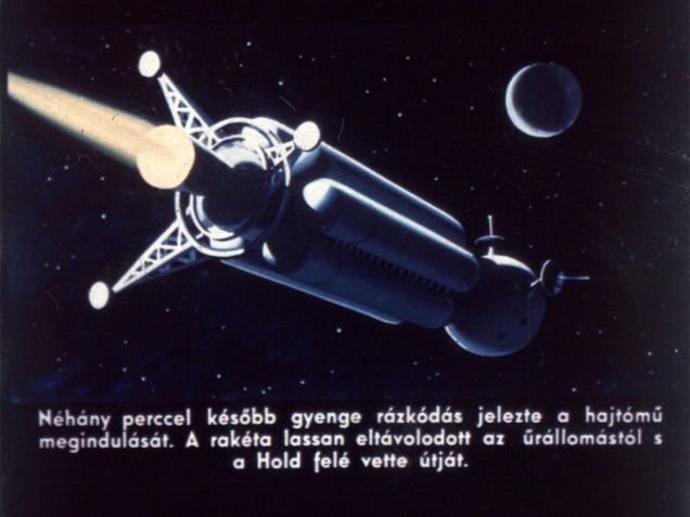 A few minutes later, gentle shaking indicated the start of the engines. The rocket slowly departed the space station and began its journey towards the Moon.